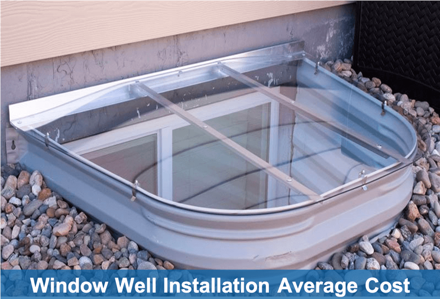 Average cost of window well installation